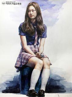 인체수채화, 인물수채화, watercolor