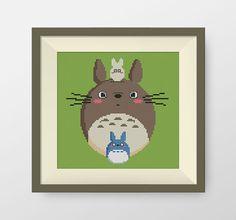 My Neighbour Totoro cross stitch pattern, Ghibli Cross Stitch , Instant Download, miyazaki pattern, P111
