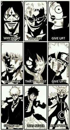 Ichigo Kurosaki, Monkey D. Luffy,  Naruto Uzumaki. 3 of the best Anime/Manga characters ever!!!