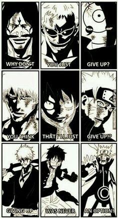 Ichigo Kurosaki, Monkey D. Luffy, & Naruto Uzumaki. 3 of the best Anime/Manga characters ever!!!