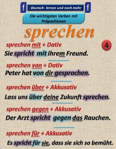 Duits - Deutsch - sprechen - Kasus - Präpositionen - voorzetsels - naamval