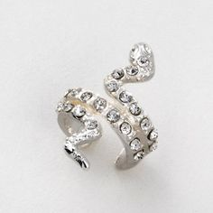 Crystal Snake Ear Cuff | Claire's