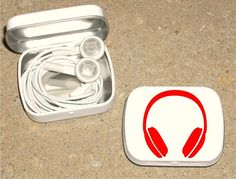 Use Altoids container to store headphones when traveling or in your purse.