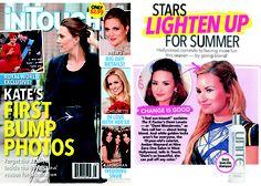 IN TOUCH June 2012 BLONDA Shampoo on Demi Lovato at Nine Zero One Salon