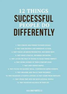 Successful people tips