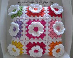 capa de almofada florida