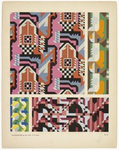 Kaleidoscope by M.P. Verneuil: a book of incredible patterns made using a stencil technique, sometime in the 1920s.