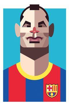 Playmakers by Daniel Nyari, via Behance #voetbal #soccer #illustration