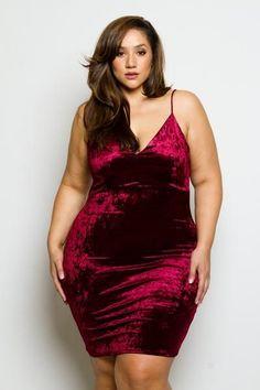 Plus Size Crushed Velvet Mini Dress #curvyfashion, #FashionPhotography