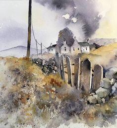 Home - Rachel McNaughton Watercolor Artists, Watercolor Landscape, Abstract Watercolor, Abstract Landscape, Landscape Paintings, Watercolor Paintings, Watercolours, Landscape Architecture, Encaustic Art