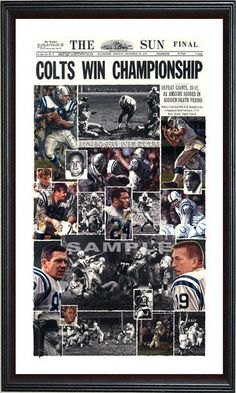 Click Image Above To Purchase: Baltimore Colts - 1958 - Oversized - Framed Giclee Baltimore Colts, Baltimore Maryland, Indianapolis Colts, School Football, Nfl Football, Baseball, Johnny Unitas, How Bout Them Cowboys, American Football Players