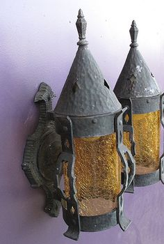 solid copper porch lights for your Tudor, Spanish Revival, or Gothic style home