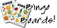 Free Bingo Board Maker: make bingo boards with images or all text.  Use the all text version to create printable math bingo games on-line. There are currently 3x3 bingo boards and 4x4 bingo boards.  Crisscross Bingo is another bingo board creator.  It creates bingo boards for use in conversational activities.