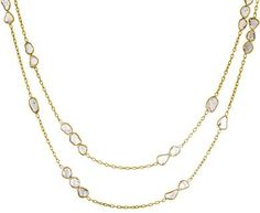 Kothari   Long Grouped Diamond Slice Necklace in Designers Kothari Necklaces at TWISTonline
