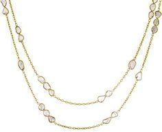 Kothari | Long Grouped Diamond Slice Necklace in Designers Kothari Necklaces at TWISTonline