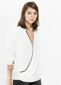 Folded Blouse, which i happen to find super sexy - Blouses and shirts for Women | MANGO