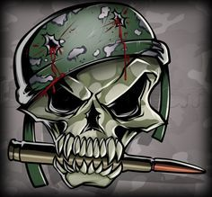 How to Draw a Military Skull, Step by Step, Skulls, Pop Culture . Skull Sketch, Military Drawings, How To Draw Steps, Skull Wallpaper, Online Drawing, Face Painting Designs, Skull And Bones, Step By Step Drawing, Military Art