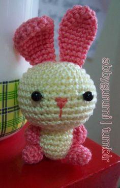 bunny Head Rnd 1: ch 2, sc 7 on the 2nd ch frm... – Abby's Amigurumi ♥
