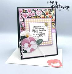 Birthday Cards, Happy Birthday, Beautiful Handmade Cards, Flower Cards, Pansies, Homemade Cards, Stampin Up Cards, Free Gifts, Card Ideas