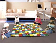 Multicolor Kid's Carpets    Carpet plays an important role in your home decor. They can be elegant and stylish, or functional and practical, some they can be all those attributes, Choosing the right carpet to add to your home is a personal choice and one that should be undertaken with great care, Cartain type of carpets, all-natural mostly, can give a home a sense of prestige and wealth.    100 % WOOL WITH COTTON BACK  Size: 110x170 cm