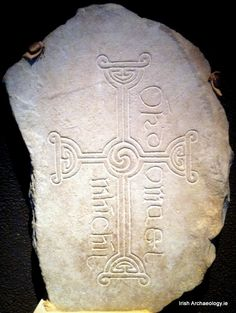 An Early Christian cross slab from Clonmacnoise, Co. Offaly, Ireland