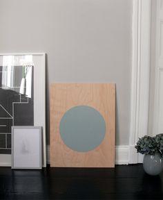 circle screenprint on plywood