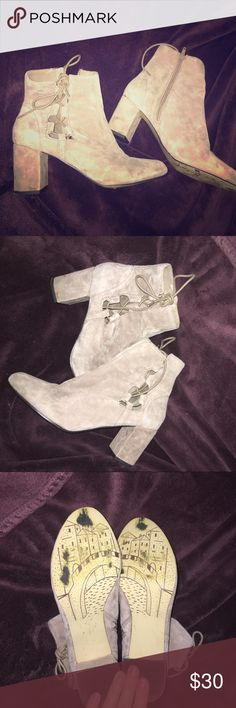 Taupe Booties Taupe booties in great condition only worn once for NYE! bella vita Shoes Ankle Boots & Booties