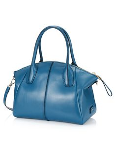 Unmistakable minimalist design for this bowler bag, re-visited in terms of details and crafted in exquisite calfskin with glossy finish. With hand-dyed piping and contrast-colored seams, zip fastening with leather and metal slide, rounded handles, two small pockets inside and thin detachable shoulder strap. The perfect accessory for a sophisticated, fresh and elegant look.