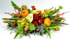 Pumpkins and Kale Centerpiece from Mockingbird Florist in Dallas, TX