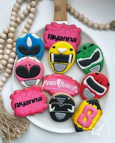 Birthday Cookies, 8th Birthday, Power Ranger Birthday, Go Go Power Rangers, Growing Up, Rolls, Things To Come, Photo And Video, Sugar Cookies