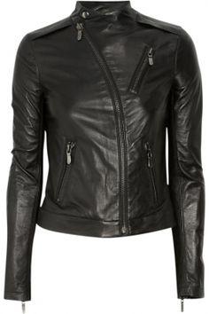 J Brand Benatar Moto Leather BLACK Leather Jacket