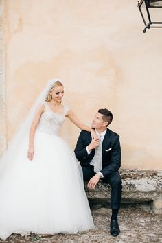 Photography : M&J Photography   Wedding Dress : Badgley Mishka   Grooms Suit : Tom Ford Read More on SMP: http://www.stylemepretty.com/2017/03/27/wedding-weekend-in-provence/
