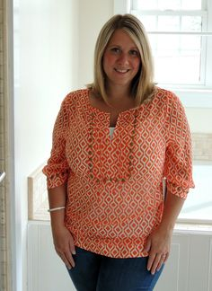 I love this shirt. she is build very similar to me, so I am off to search her blog for more fixes.