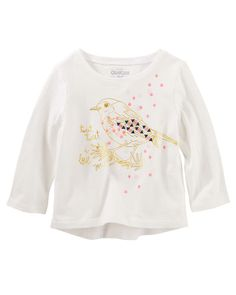 Baby Girl Bird Tee from OshKosh B'gosh. Shop clothing & accessories from a trusted name in kids, toddlers, and baby clothes.