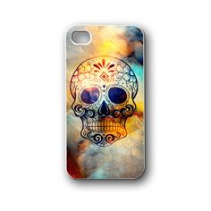 floral skull nebula space - iPhone 4,4S,5,5S,5C, Case - Samsung Galaxy S3,S4,NOTE,Mini, Cover, Accessories,Gift