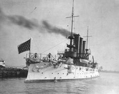 USS Maine BB-10 seen between 1903 and 1907.