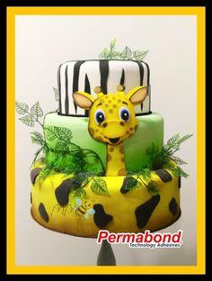 Mãe Sem Frescura - 7 Inspirações de Bolo Fake para Meninos - Festa de Aniversário - MM Criações - Girafa