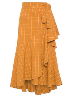 Gorgeous color skirt, worry the tie front would draw attention to my stomach. Long Skirt Fashion, Modest Fashion, Girl Fashion, Fashion Dresses, Fashion Design, Coat Dress, Dress Skirt, Skirt Outfits, Cute Outfits