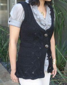 #82 Talia Shaped Vest FREE PDF Knitting Pattern #knitting #SweaterBabe.com