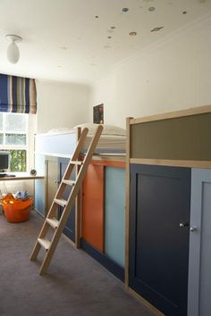 loft bed with storage on long back wall of your room