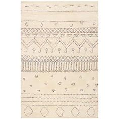 Hand-knotted Moroccan Beni Ourain Misa Wool Beige Rug (5' x8') | Overstock.com Shopping - The Best Deals on One Of A Kind Rugs