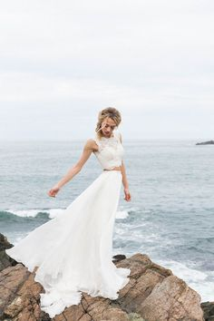 raw + intimate seaside wedding