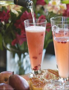 pear and pomegranit bellini