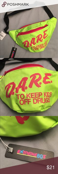 D.A.R.E Fanny Pack MAKE ME AN OFFER! Great fanny pack for music festivals like lolla! One front main pocket and one pocket in the back, BRAND NEW, never used! Tilly's Bags Mini Bags