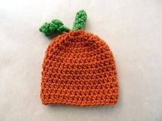Crochet Beanie Hat Pumpkin Beanie Hat Photo by LittleMommaBoutique, $22.00