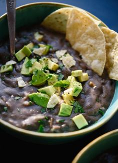 Delicious black bean soup recipe made with basic pantry ingredients!