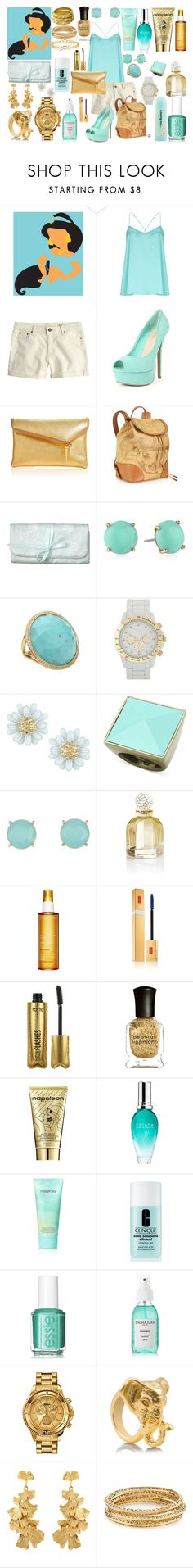 """""""Jasmine: Disney High"""" by thequeenofreading ❤ liked on Polyvore featuring Alice & You, J.Crew, Wild Diva, Henri Bendel, Alviero Martini 1° Classe, Laura Ashley, FOSSIL, Ippolita, Dorothy Perkins and Glitterrings"""