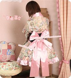 [Witch] gorgeous strawberry LOLITA Dress Cheap Pink Kimono Full lilies Limited - Taobao