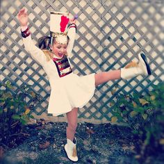 baton twirler costume.  too cute!