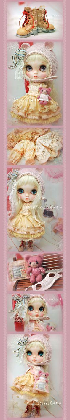 * Custom Blythe Pink Teddy Bear-Asterisk *** Admin - Auction - Rinkya! Japan Auction & Shopping
